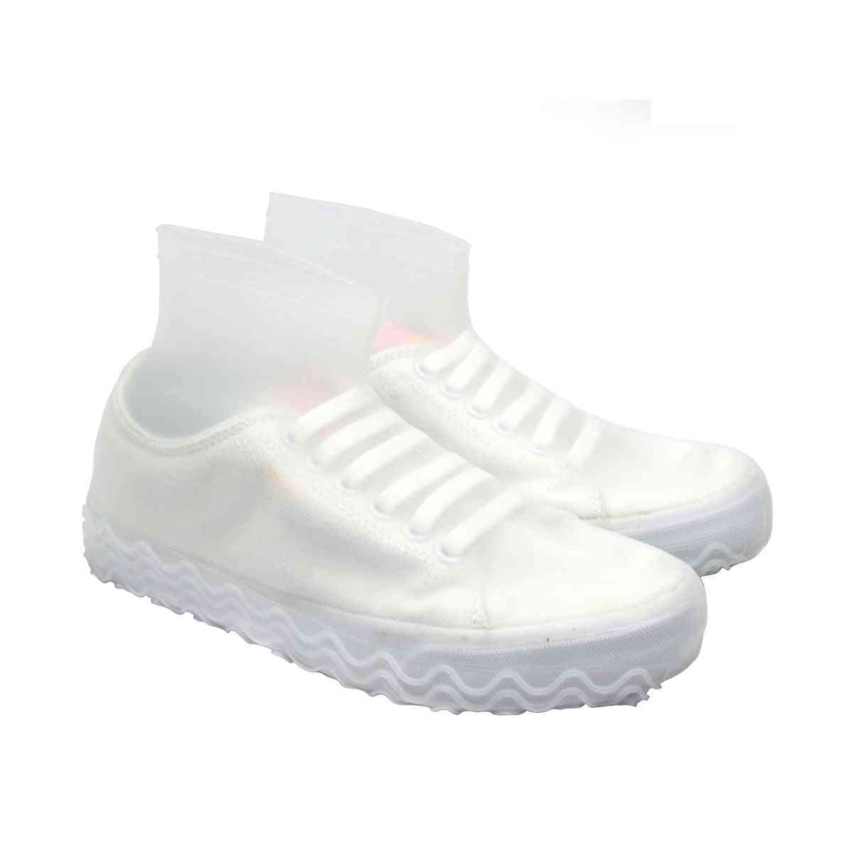Silicone Reusable Latex Waterproof Rain Shoes Covers, Slip-resistant Rubber