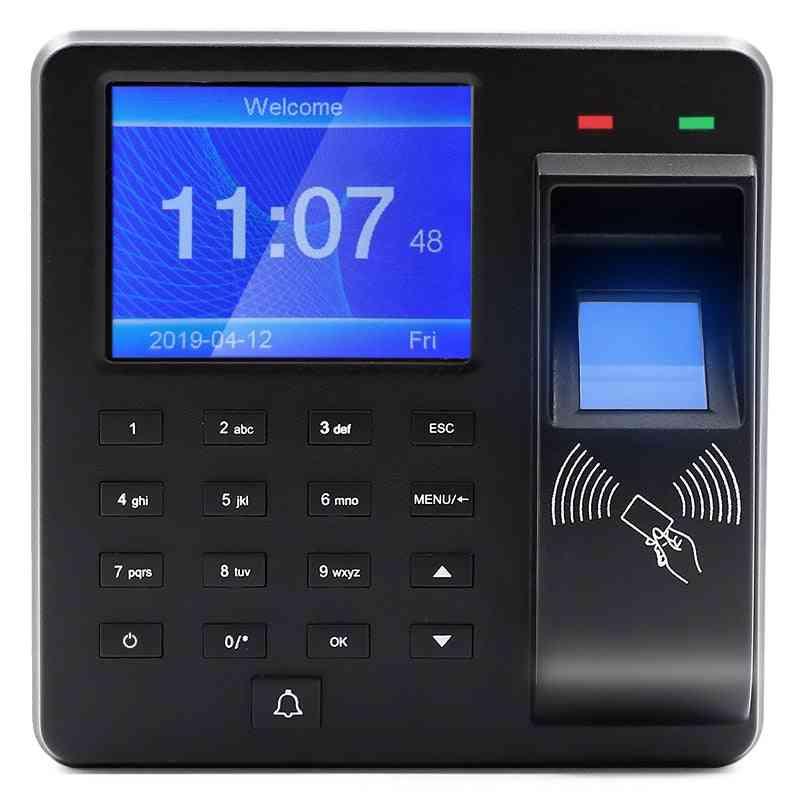 Language Access Control Fingerprint Time Attendance Recorder