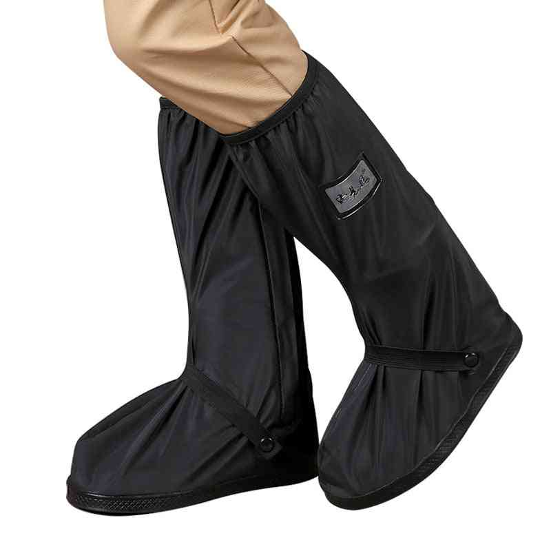 Waterproof Reusable Motorcycle / Cycling Overshoes Rain Shoes Covers With Reflectors