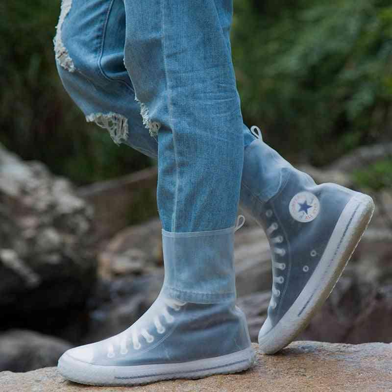 Waterproof Reusable High Rain Shoe Cover, Anti-skid Dustproof Shoes Covers