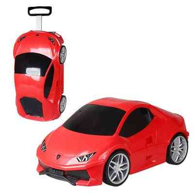 Kids Rolling Luggage Baby Sports Car Toy Travel Luggage