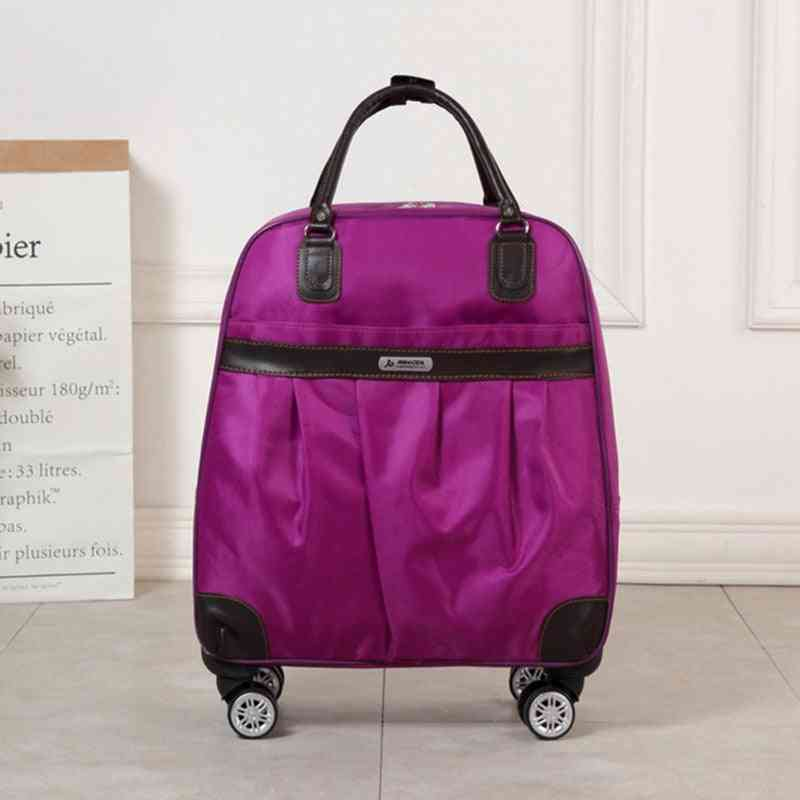 Trolley Luggage Rolling Suitcase Brand Casual Stripes Rolling Case Travel Bag