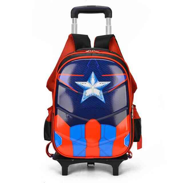 Students School Bag Climb Stairs Suitcase Cartoon Backpack/stationery Bag