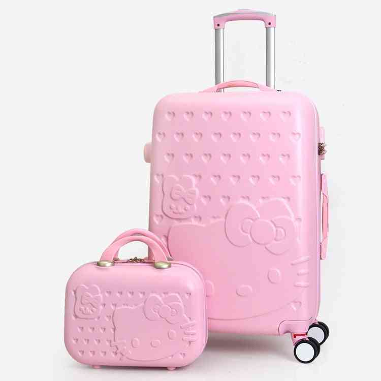 Lovely Cosmetic Bag Hello Kitty Luggage / Kt Cat Travel Case