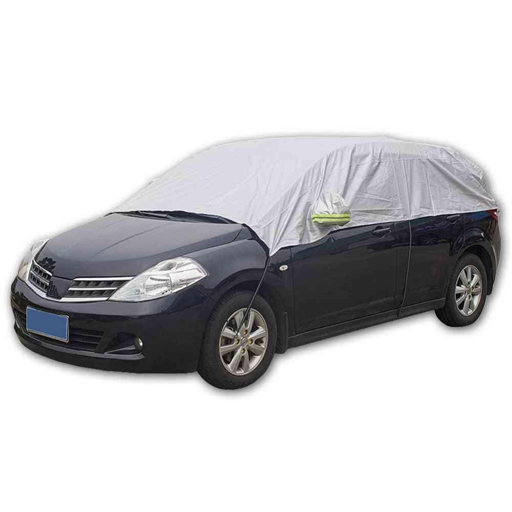 Half Car Cover, Sun Uv Snow Dust Rain Resistant Durable Covers