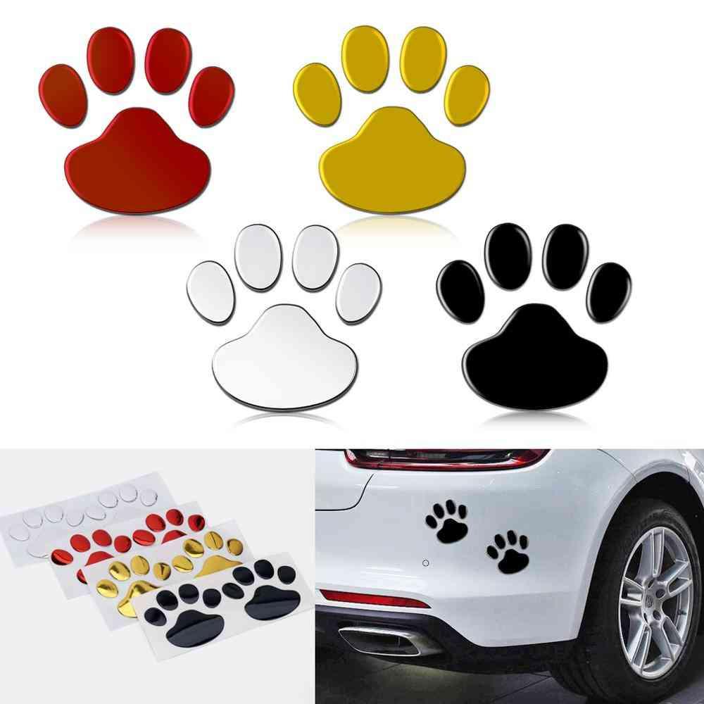 Cool Design Paw, 3d Animal Dog Cat Bear Foot Prints Car Sticker