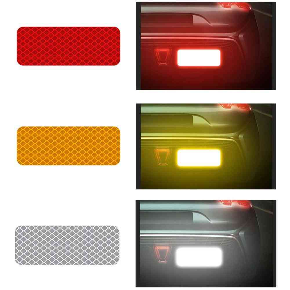 Car Reflective Sticker And Traffic Warning, Mark Strip Tape For Safety Bumper