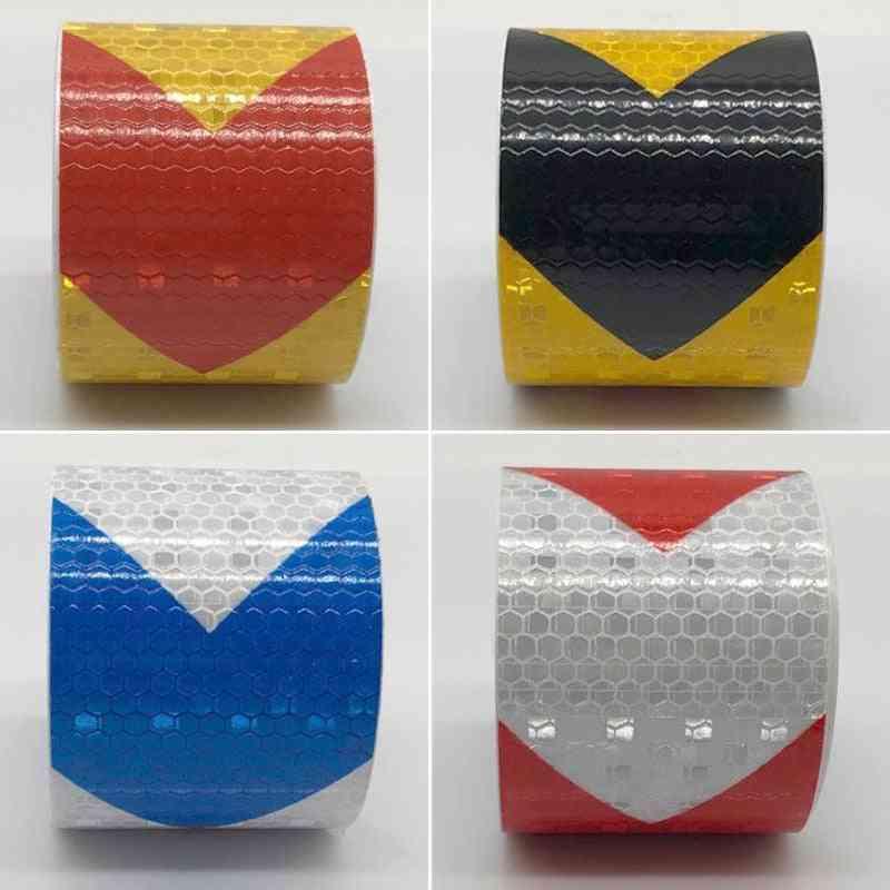 Arrow Pattern Mesh, Reflective Ribbon Sticker For Vehicle, Warning Tape