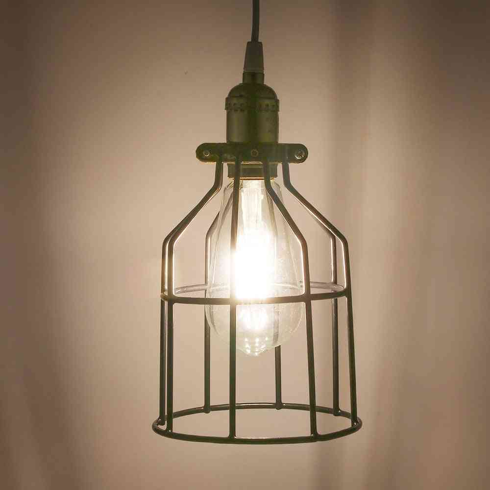Lampshade Pendant Light Lamp Shade Industrial Cage Bulb