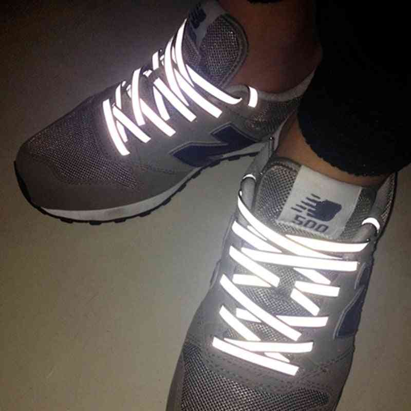 Double-sided Reflective Shoelaces For Night Running Sports Shoes