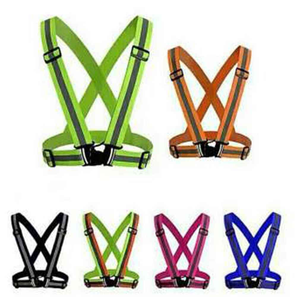 Highlight Reflective Straps For Night Running, Clothing Safety Vest, Elastic Band