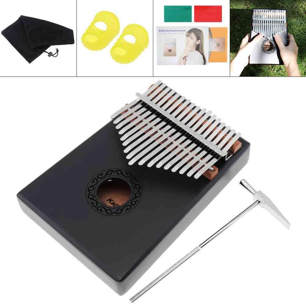 Kalimba Single Board Mahogany Thumb Piano Mbira Mini Keyboard Instrument