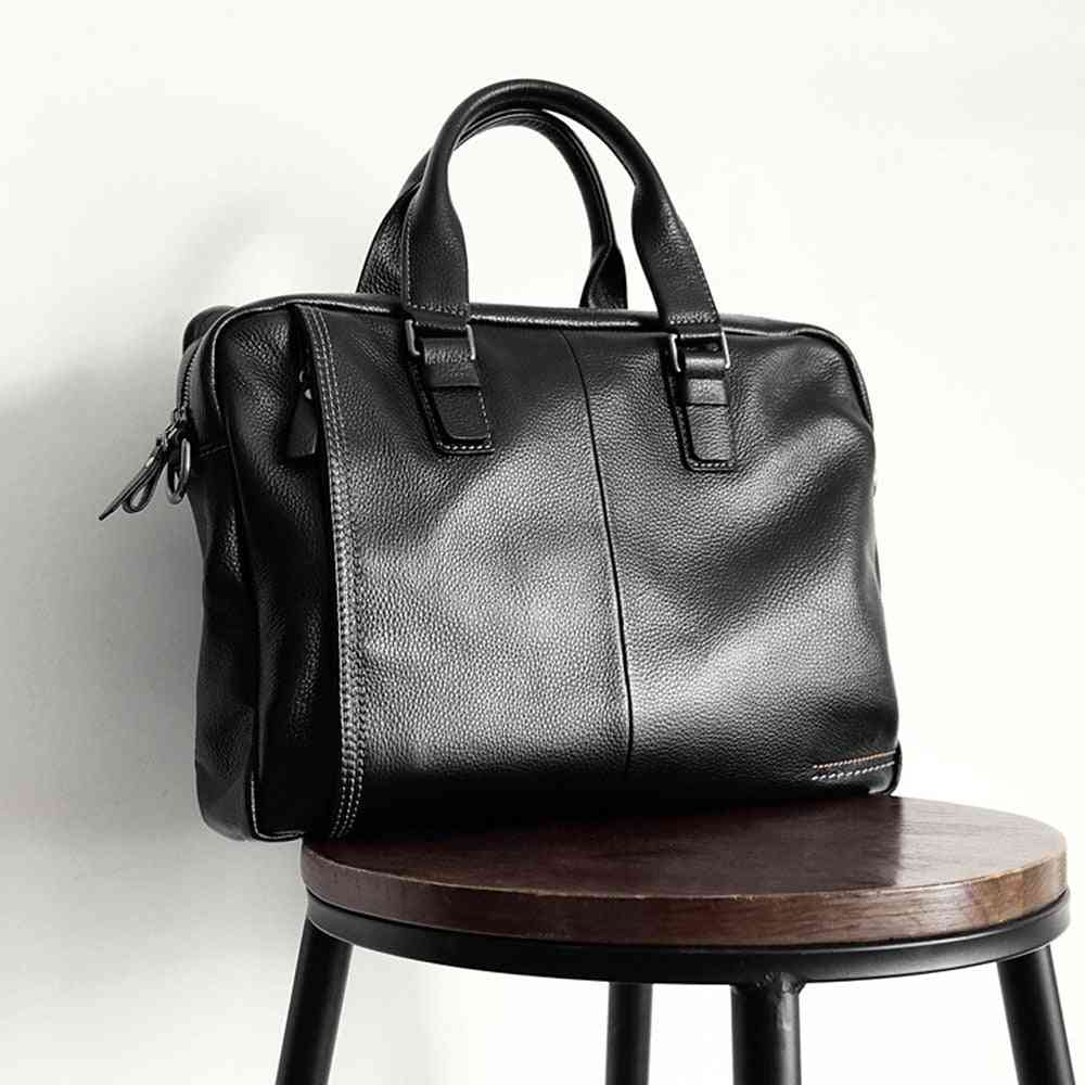 Genuine Leather Men Briefcase Fashion Large Capacity Business Bag