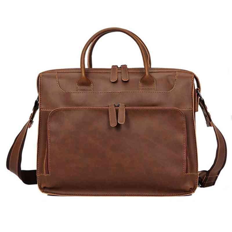 Leather Large Capacity Shoulder Bag/men
