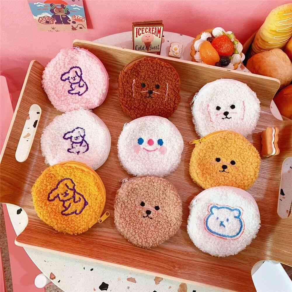 Bentoy Milkjoy Smile Bear Flannel Soft Coin Purse For Kids