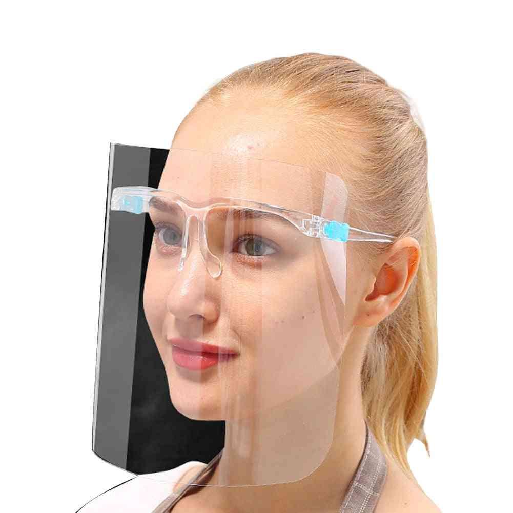 Unisex Transparent Protective Visor, Glasses Frame And Lense Set