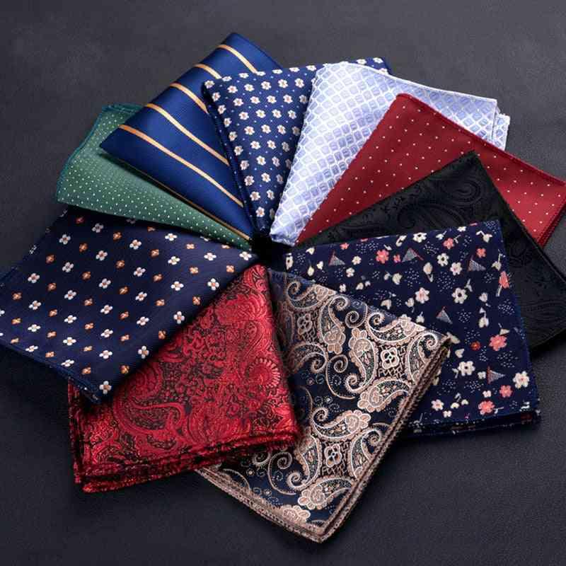 Unisex Square Shaped Pocket Size Colorful Handkerchief