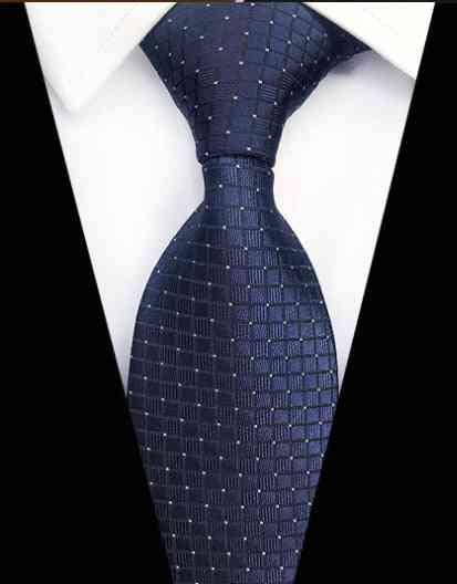 Paisley Plaid Jacquard Woven Silk Men Neck Striped Tie
