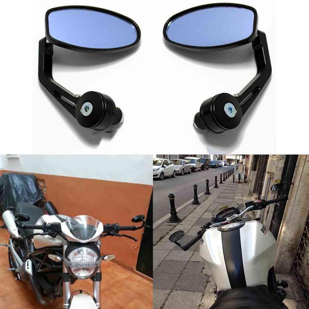 Handlebar End Mirrors-oval Custom Classic Side Mirrors