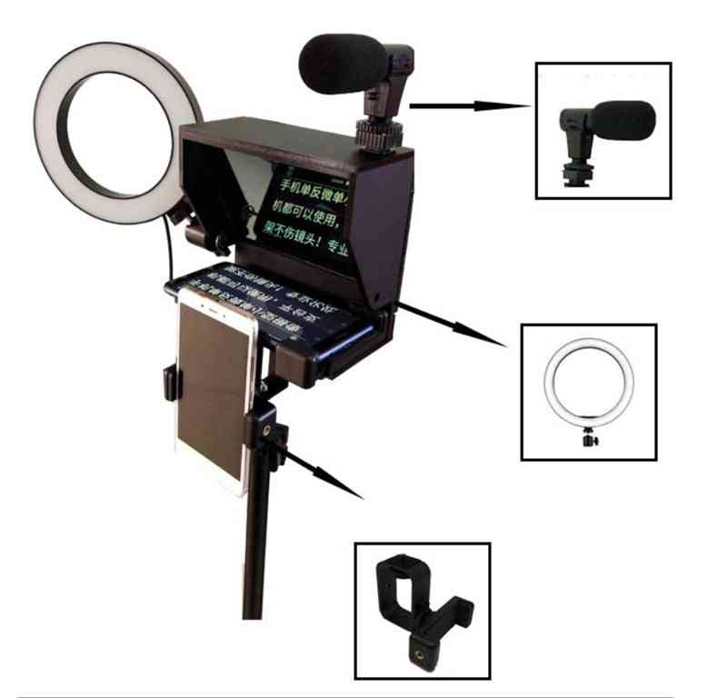 Portable Smartphone Teleprompter With Remote Control