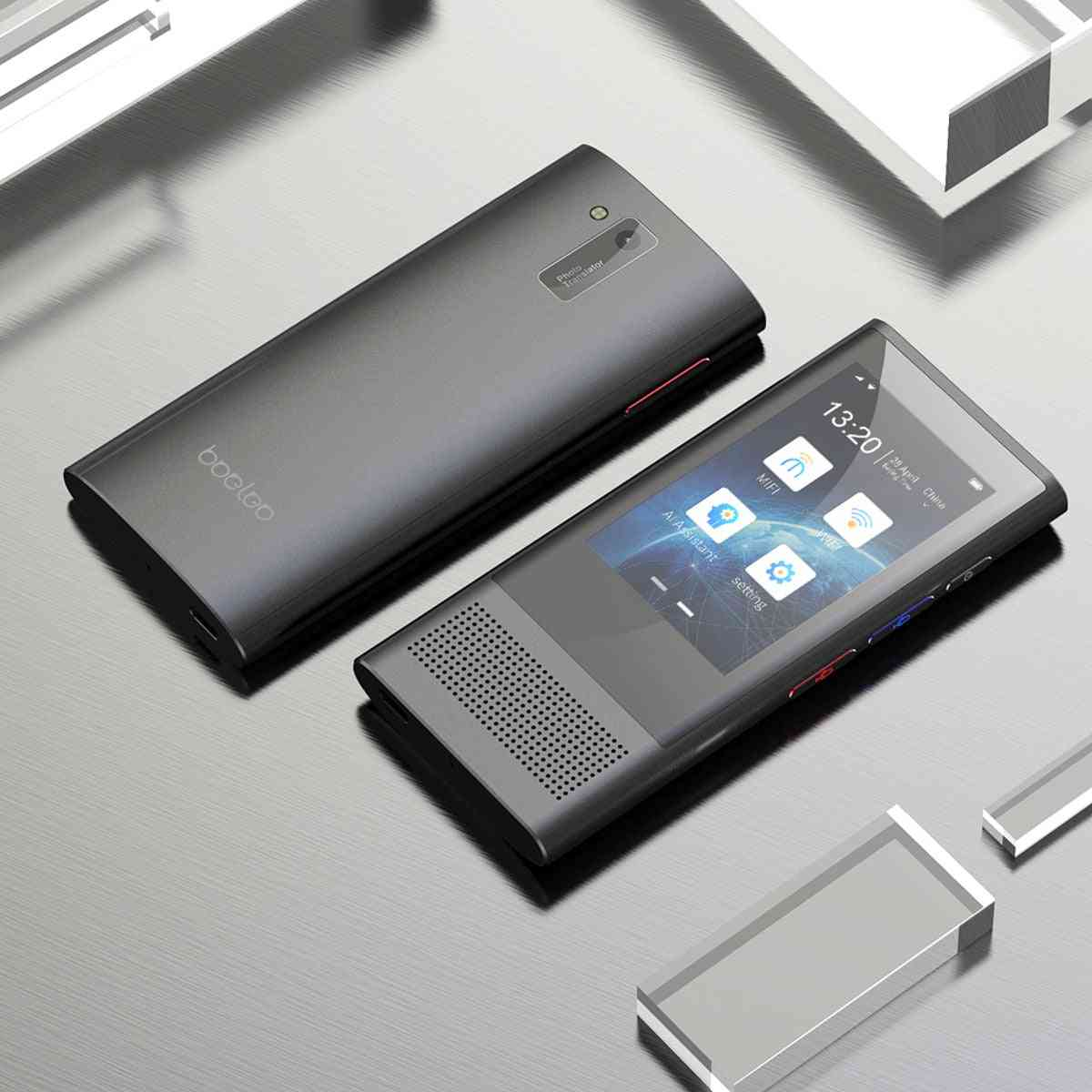 Ai 117 Languages Wifi 4g Offline Portable Voice Device Smart Business Translation Machine