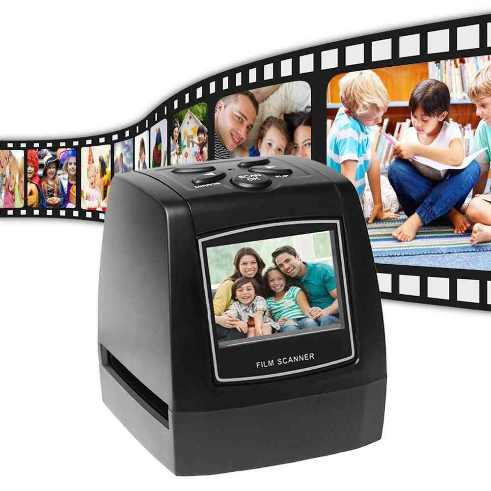 Portable 5mp 35mm Negative Film Scanner Negative Slide Photo Film Converts Usb Cable