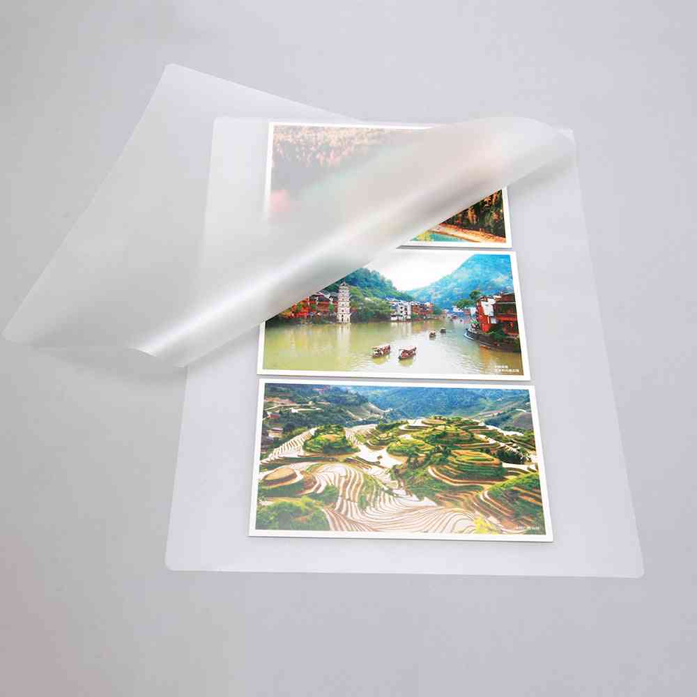 A4 Thermal Laminating Film Pet For Photo/files/card/picture Lamination Roll  Hot Cold Packs Laminator Paper