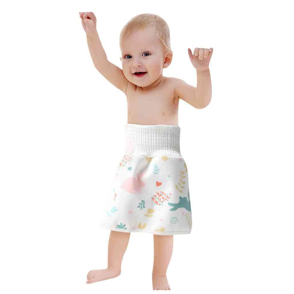 High Waist Elastic Training Skirt Waterproof Baby Diaper.