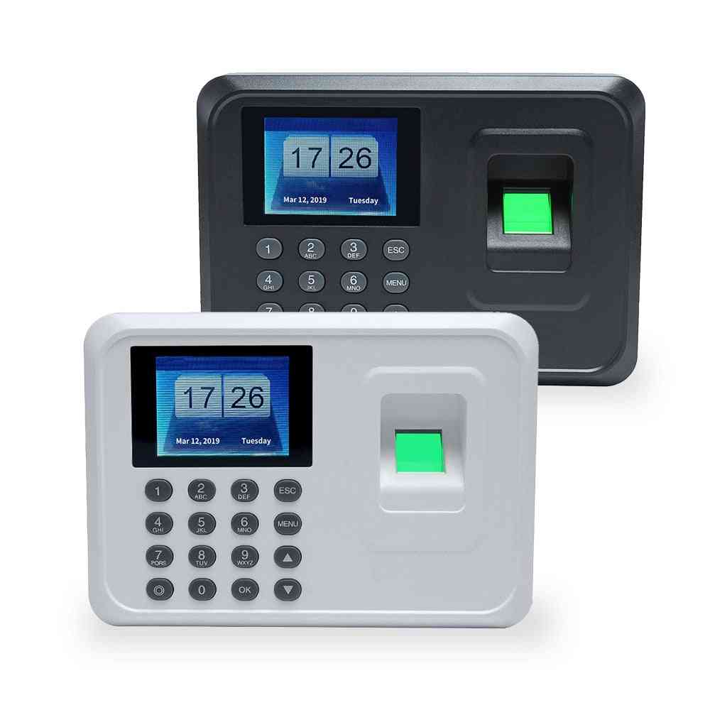 A5 2.4in Tft Biometric Fingerprint Punch Time Clock Office Attendance Recorder