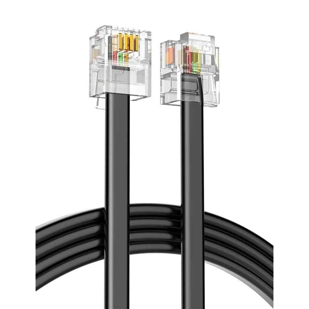 Quality 5m 4c Telephone Line Rj11 6p4c Connector Phone Cable/wire For Pbx Analog Digital Phone Customizable 1-100m