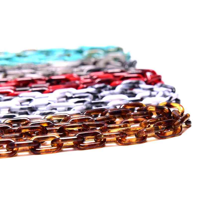 Leopard Acrylic Sunglasses Chain, Anti Slip, Eyewears Holder Cord's