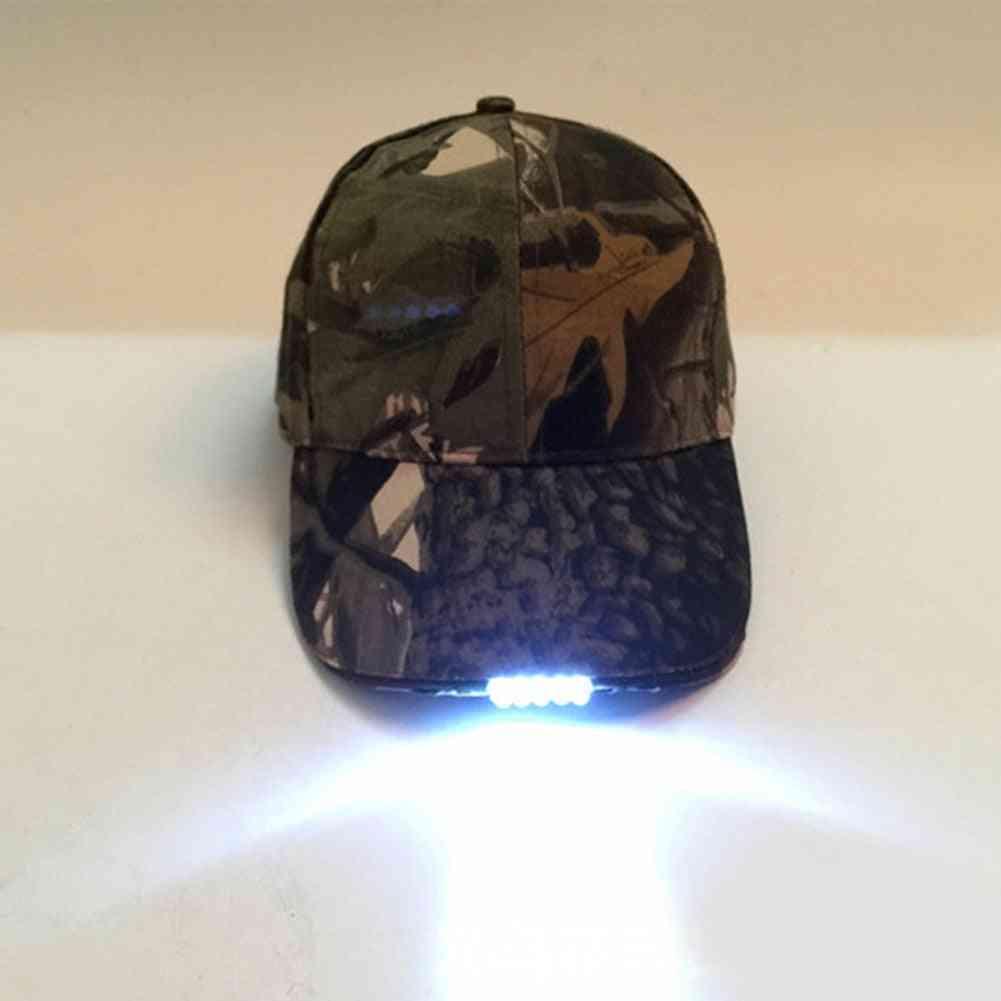 Led Light Flashlight For Fishing, Jogging, Baseball Cap