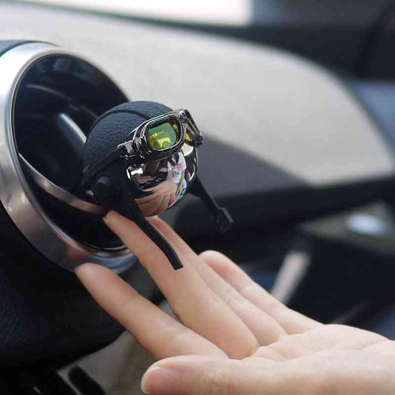 Stainless Steel + Leather Strap Hanging Car Fragrance, Air Freshener