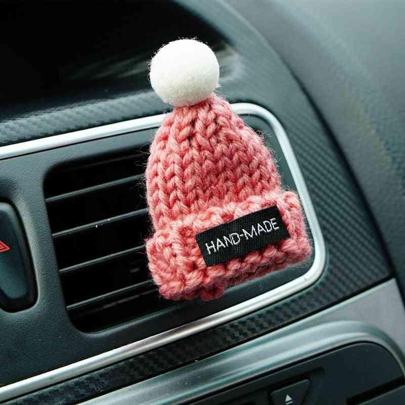 Car Styling Handmade Hat Shape Air Freshener Clip, Vent Perfume