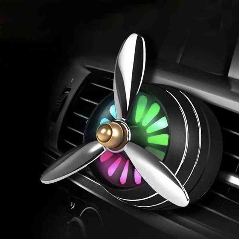 Mini Smell Air Freshener With Led - Conditioning Alloy Auto Vent Outlet Perfume