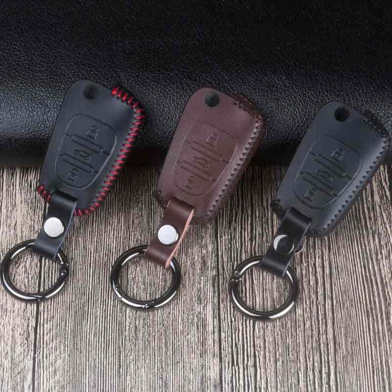 Leather Car Remote Key Case Cover