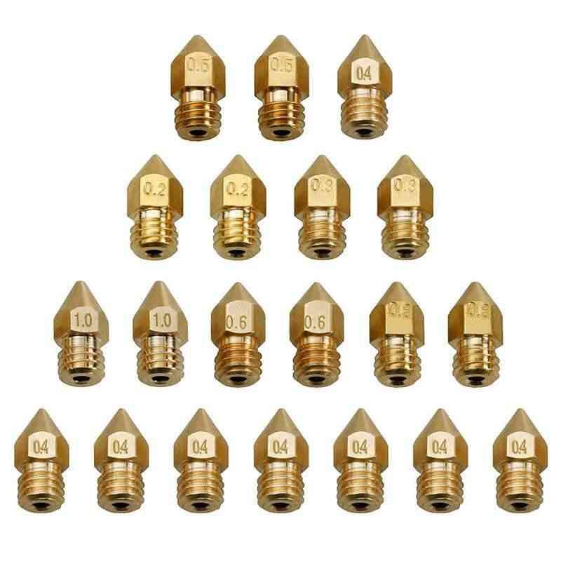 3d Printer Parts Extruder Brass Nozzle