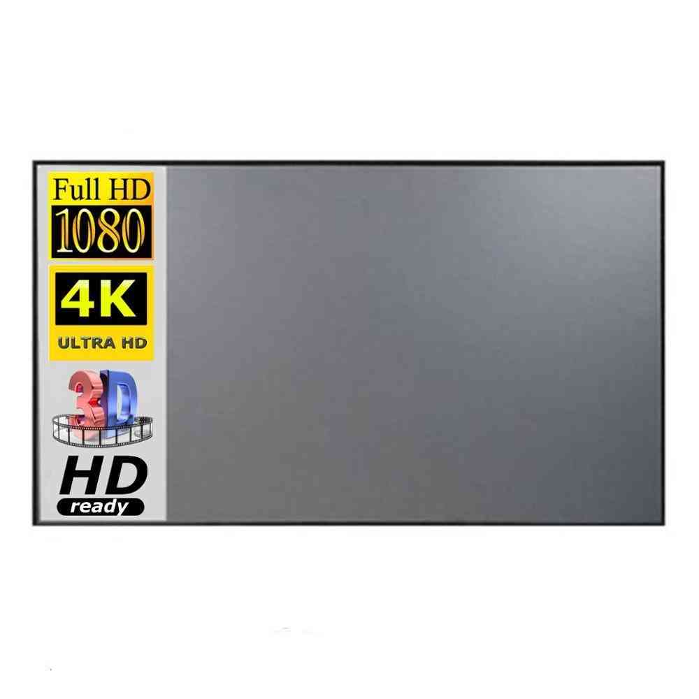 Portable 3d Hd Projector Anti-light Screen