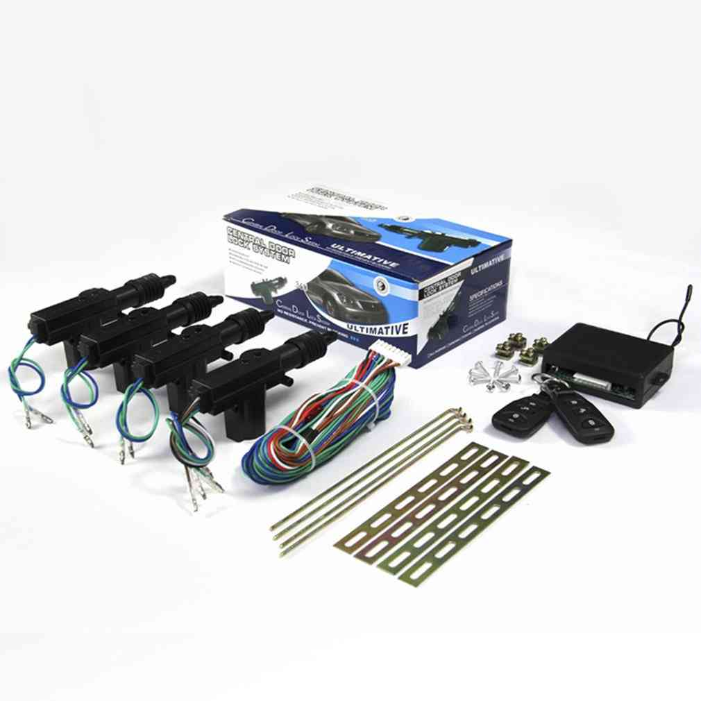 Car Door Lock Keyless System, Remote Central, Control Locking Kit With Trunk Release Button