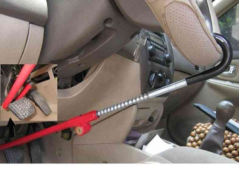 Retractable Car Steering Wheel Pedal Clutch Lock Security System