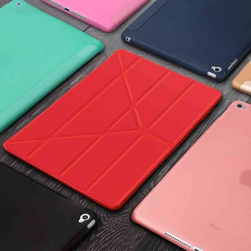 Silicone Magnetic Smart Covers, Soft Tpu Back Protective Case Cover