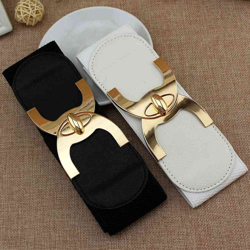 Korean Style Buckle Elastic Wide Belt