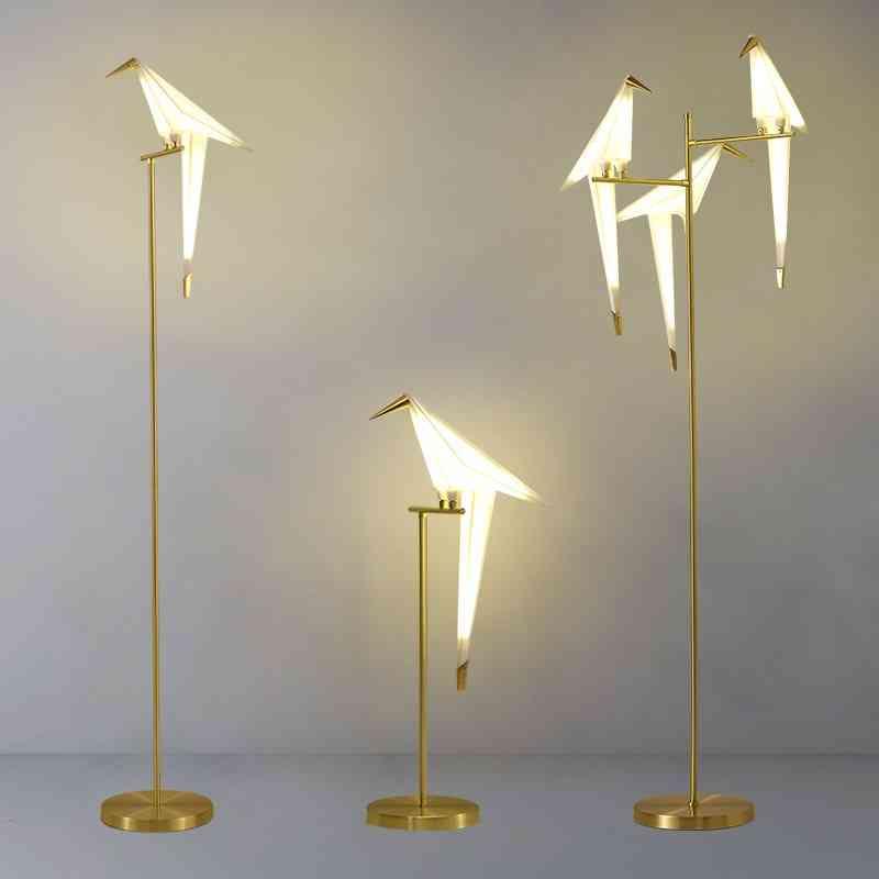 Nordic Bird Floor Lamp, Creative Acrylic Light