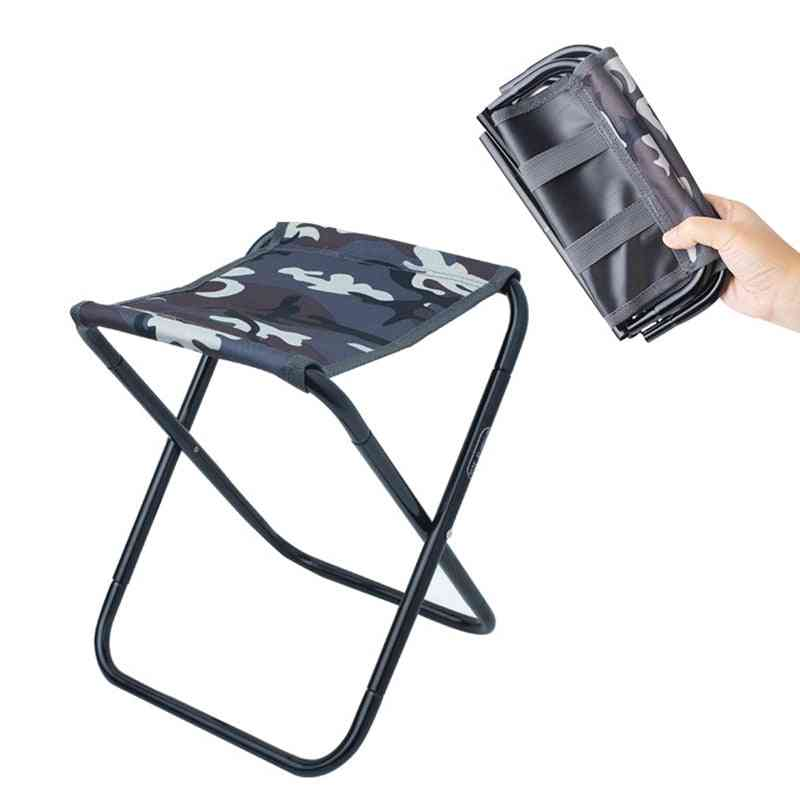 Outdoor Portable Camping Chair - Fishing Foldable Al Train Travelling Stool