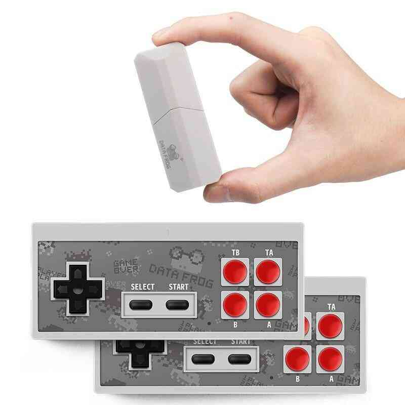 8 Built In 1400 Classic Games Mini Wireless Console, Support Av/hdmi Output Dual Gamepads