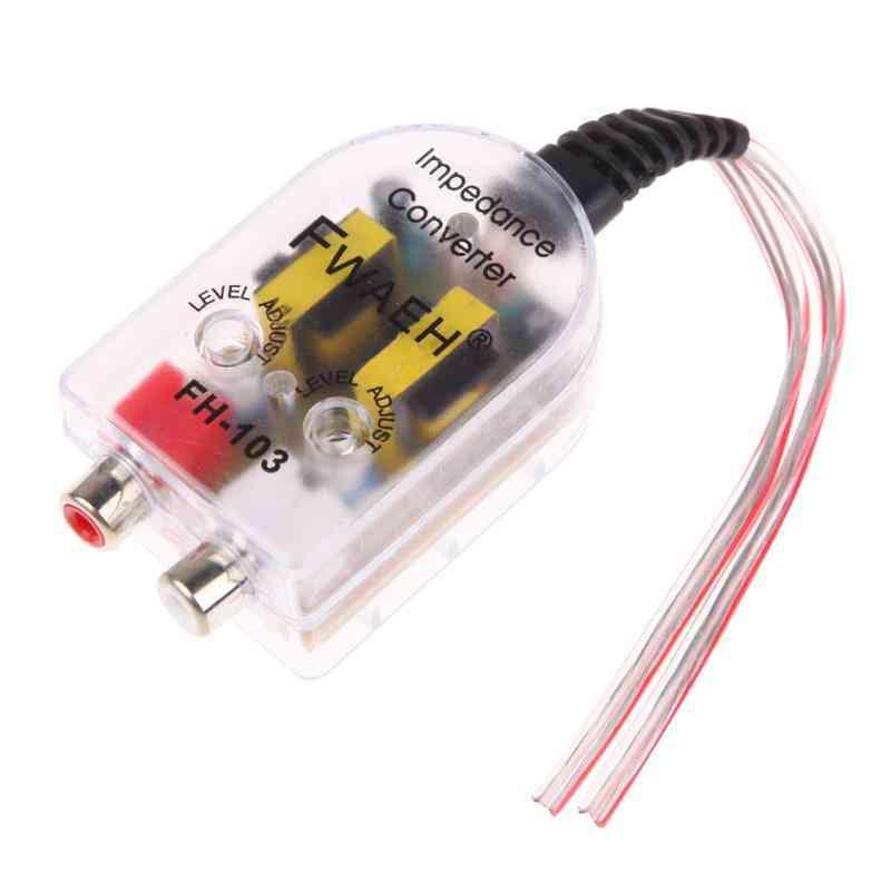 12v Car Stero Radio Speaker, High To Low Rca Line Audio Impedance Converter