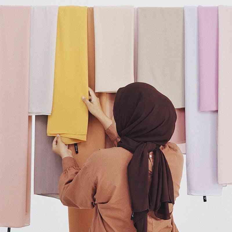 Chiffon Scarf Wrap Plain/ Solid Color