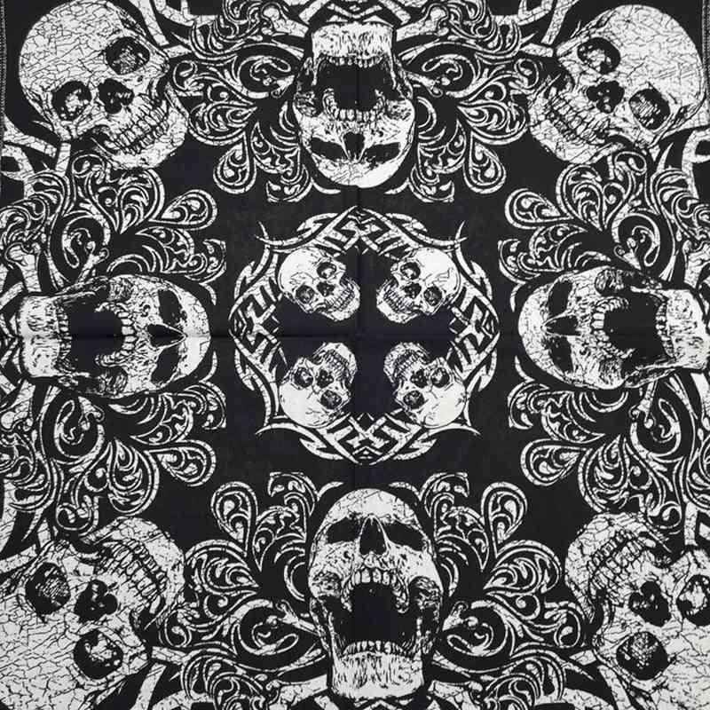 Drop Hip Hop Cotton Skull Bandana Square Scarf