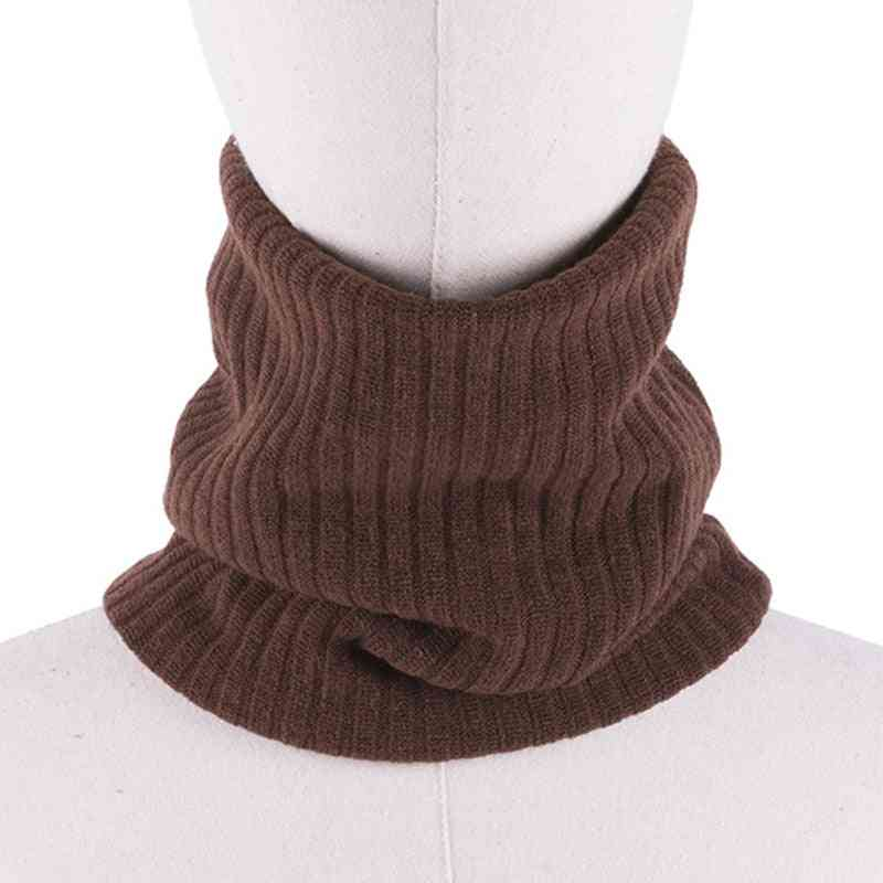 Unisex Winter Warm Knitted Ring Scarves Thick Elastic Knit Mufflers, Neck Warmer