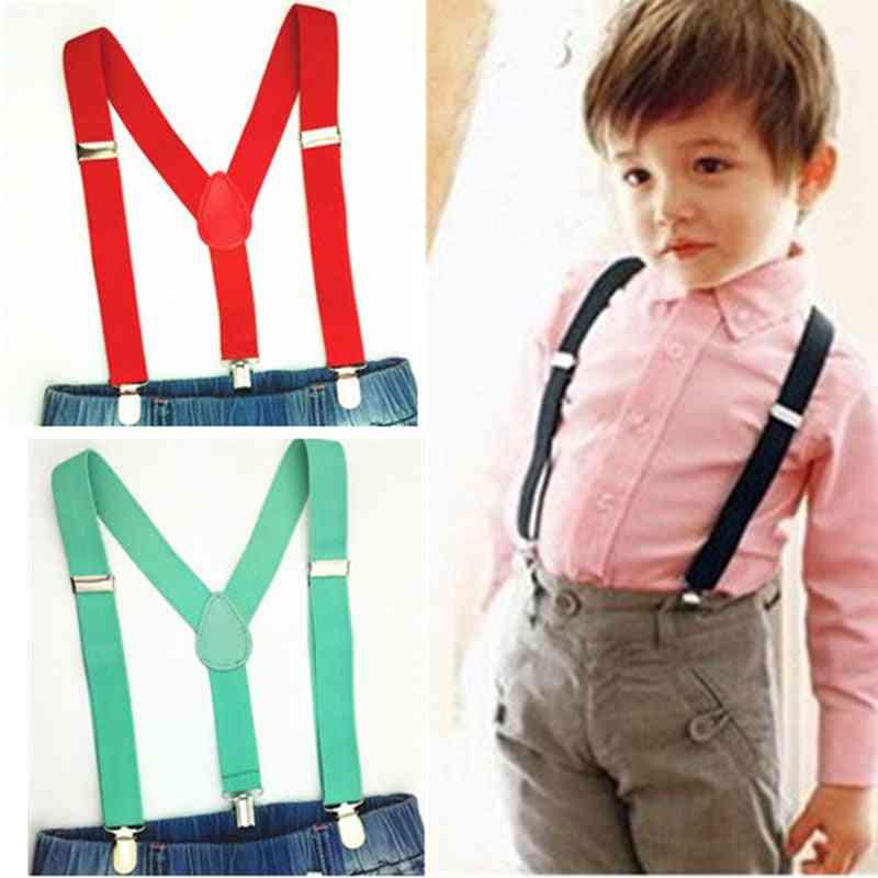 Elastic Baby Suspenders Y Back Clips, Kids Suspender Braces